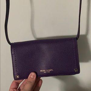 Henri Bendel eggplant smartphone purse